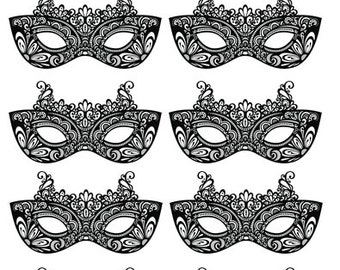 10x Edible masquerade masks uncut wafer rice paper cupcake cake toppers(5 x 9cm)