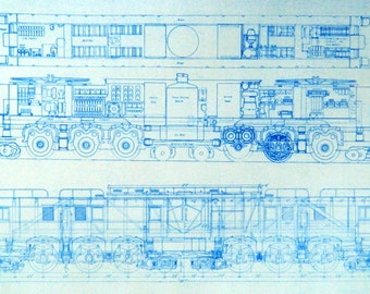 Train / Locomotive Blueprint