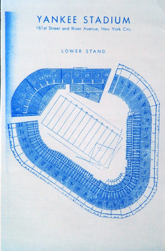 Baseball stadium blueprints related keywords baseball old yankee old yankee stadium blueprint by blueprintplace on etsy malvernweather Gallery