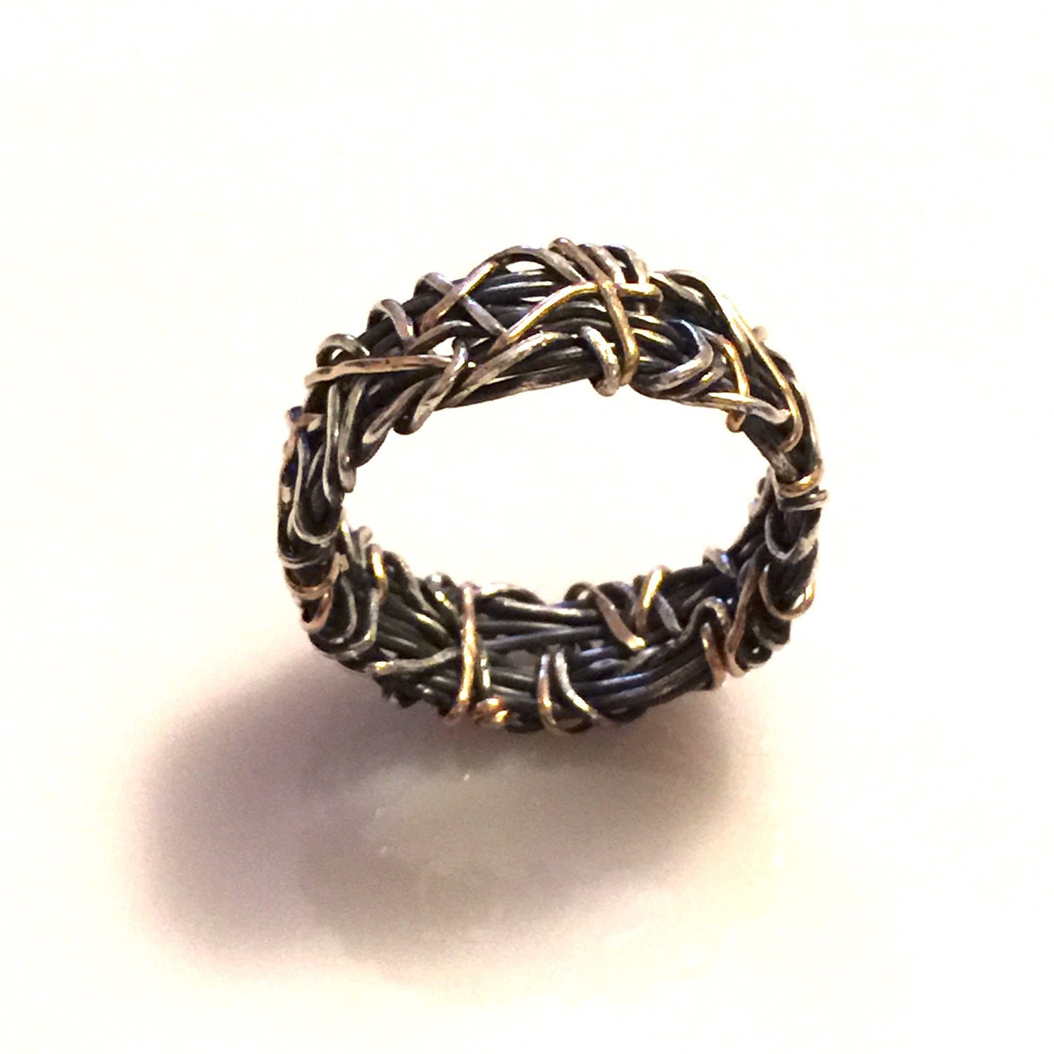 crown of thorns 14k wedding band knotted wedding band gold
