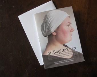 Pattern for St. Birgitta cap medieval linen headdress