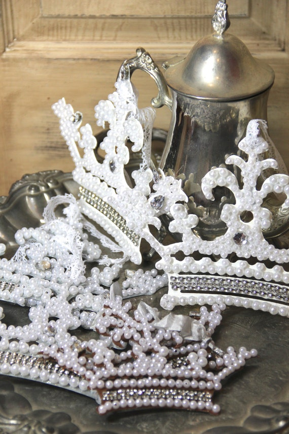 Pearl ornament metal crown ornament mediterranea design for Christmas crown decoration