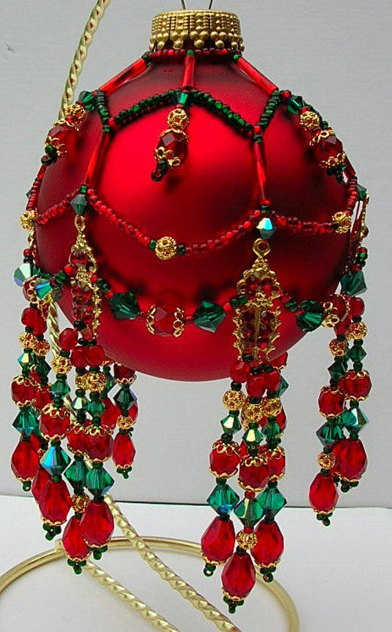 Pattern for Beaded Christmas Ornament cover Seassons