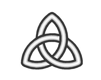 Basic Triquetra Celtic Knot Symbol Embroidery Machine Design