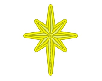 Star of Bethlehem Christmas Embroidery Design