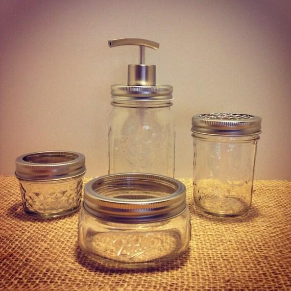 Bathroom Accessories Mason Jar Bathroom Set 4pc Mason Jar