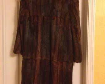 Long Mahogany Mink Coat