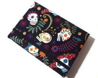 Skulls Day of Dead Cover Any SMALL Tablet Kindle Fire HD keyboard Nook Simple Touch Glo Galaxy Playbook Nexus Sony Kobo Ipad Mini hard case