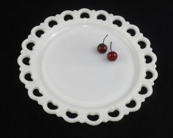 Vintage Milk Glass Old Colony Cake Plate