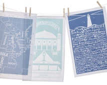 Shipping Forecast & Brighton Pier Tea Towels