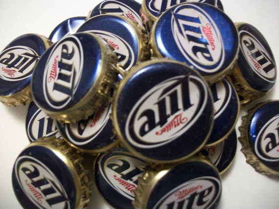 DentedFree Shipping 100 Used Miller Lite Beer Bottle Caps