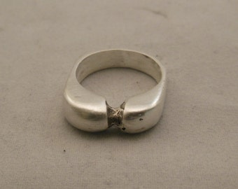 Silver lost wax cast one of a kind ring  size 6 1/2