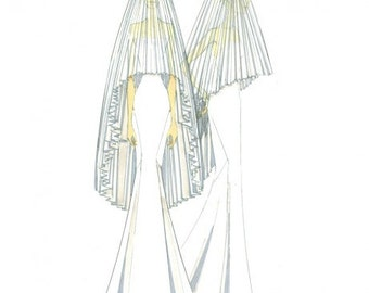 Pleated Veil - Tulle #2