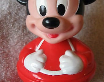 Plastic Rolly Polly Mickey Mouse  Vintage CL23-24