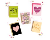Mix 'n Match ANY 5 cards for 18 Dollars - Notecards - Greeting Cards - Box Set Stationery Valentine Day Cards