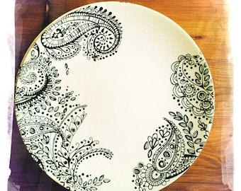 paisley dinner plate