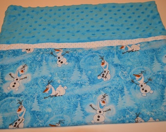 Olaf from Frozen Standard Pillow Case - 2 Trim Options