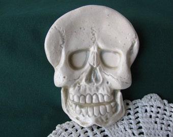 Skull Ceramic Teabag Holder, Spoon Rest or Trinket Dish