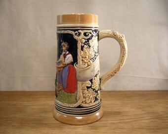 Vintage German stoneware tankard