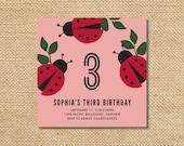 Printable Love Bugs Birthday Party Invitation