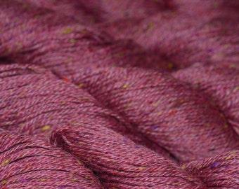 Mulberry BFL wool silk tweed sport weight yarn knit weave