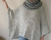 This grey knitted poncho is very very soft,warm and light.