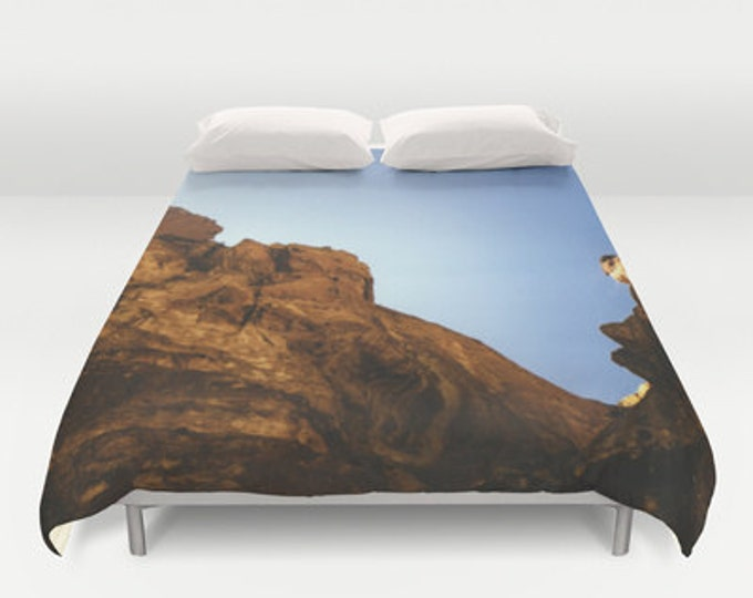 Scenic Nature Photo Bed Cover - Duvet Cover Only - Bed  Spread - Original Photo Smith Rock - Bend Oregon - 3 Sizes - PNW - Made to Order