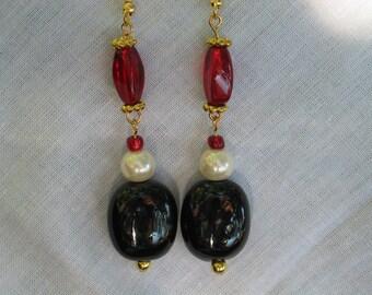 FSU Earrings, FSU, Garnet Gold Earrings, FSU Jewelry, Seminoles Earrings