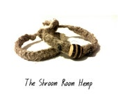 SALE // Natural Thick Hemp Bracelet with or without wooden and metal beads, eco friendly, 2 mm hemp