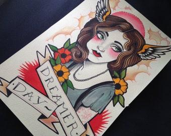 CLOUD DREAMER Watercolor Print
