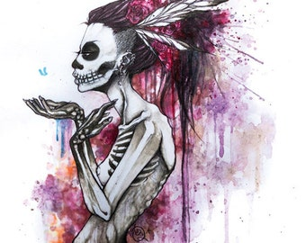 """5x7 print """"Of the Dead"""""""