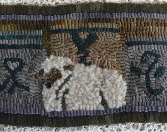 Beginner Rug Hooking Kit 'Lamb and Crocks'