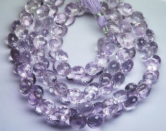 8 Inch Strand,PINK AMETHYST Faceted Onion Shape Briolettes 8-9mm size,