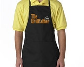 The Grillfather Funny EMBROIDERED Men's Apron Barbeque Apron