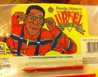 Steve Urkel ORIGINAL Magic Slate Collectible - Family Matters - 1991 - RARE