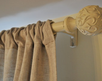 Linen Curtain Linen Drapery Panel Linen Rod Pocket Drape