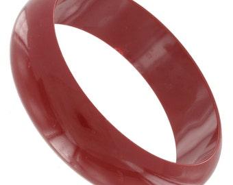 Rust Red Plastic Bangle Bracelet Vintage 1970s