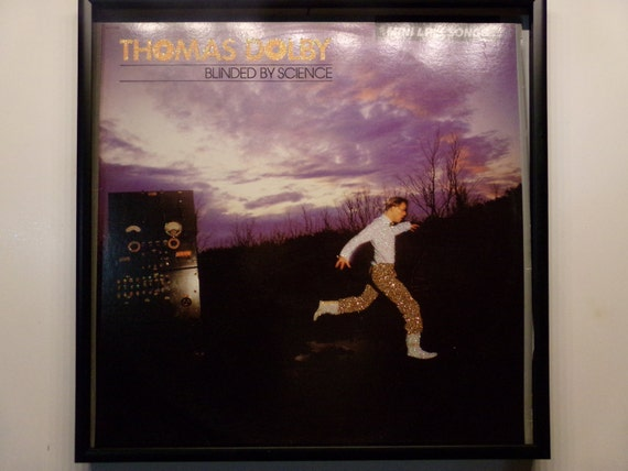 Glittered Record Album - Thomas Dolby - Blinded By Science