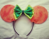 Pumpkin Minnie Mouse Ears