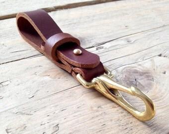 Handmade leather key carry