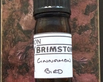 Cinnamon Bird perfume oil - cinnamon sticks, cinnamon bark, hay, saffron, almond milk