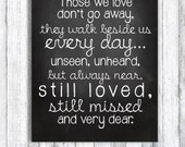 Memory board for loved ones who've passed on - INSTANT DOWNLOAD