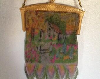 1920's Art Deco Whiting and Davis mesh purse