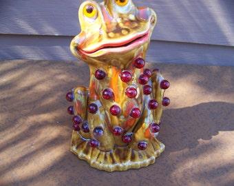 drip glaze frog