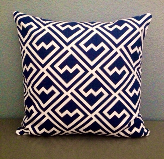 Ready Made Decorative Pillow Covers : Items similar to Ready to Ship! Navy. Blue. Accent. Pillow. 18 x 18. Throw. Cover. Throw ...