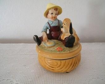 Vintage 20s Figural Music Box - Fairytale figure Works