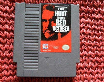 Nintendo Game Cartridge The Hunt For  Red October 1985