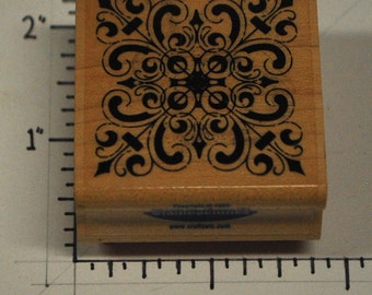 fancy square rubber stamp