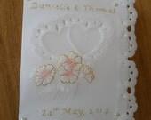 Wedding/Anniversary/Engagement  Card - Parchment Craft - handmade