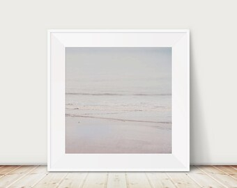 beach photograph beach decor ocean photograph nature photography pink home decor water ripples photograph coastal print